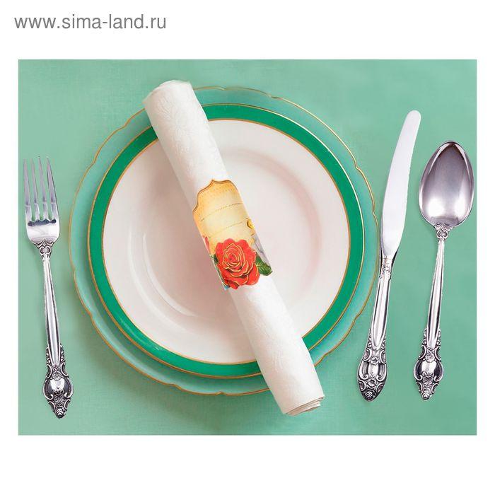 """Кольцо для салфеток """"Розы"""", 15 х 7 см"""