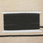 Тесьма декоративная простая, ширина 1см, длина 10±1м, цвет чёрный