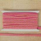 Тесьма декоративная перекрутка, ширина 1,3см, длина 10±1м, цвет бело-розовый