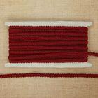 Тесьма декоративная плетенка, ширина 0,8см, длина 10±1м, цвет бордовый