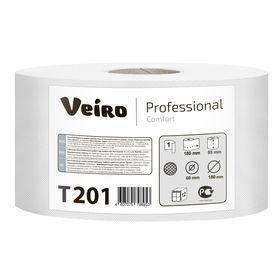 Туалетная бумага для диспенсера Veiro Professional Comfort в средних рулонах, 180 метров