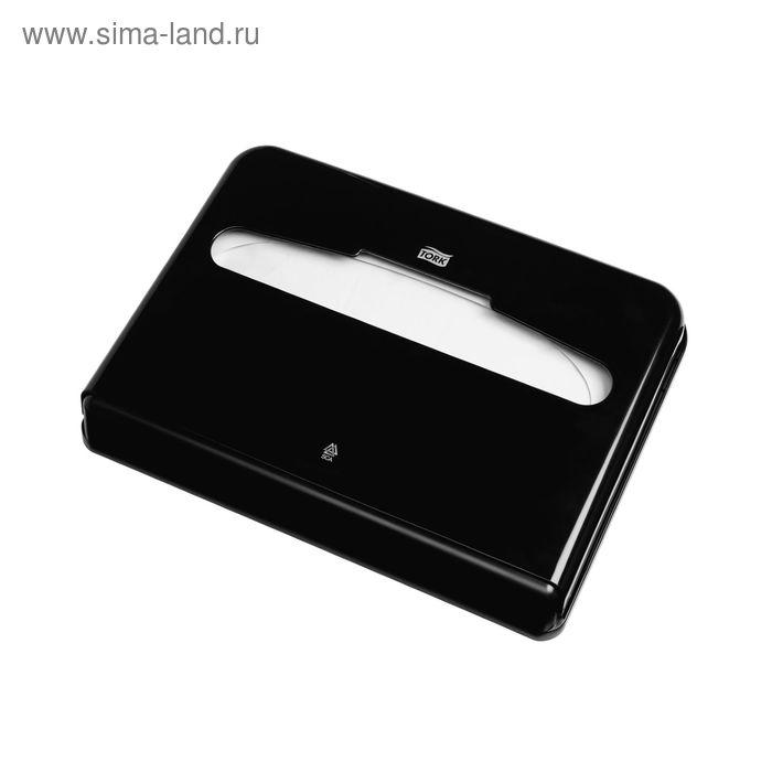 Lиспенсер Tork для бумажных покрытий на унитаз (V1) черный