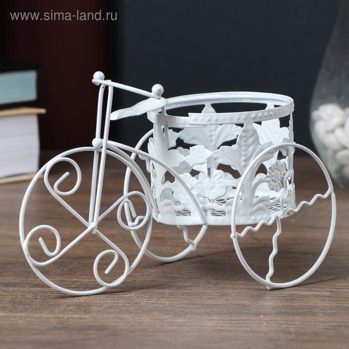 """Подсвечник сувенирный """"Трехколёсный велосипед"""" с цветами"""