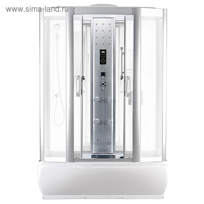 Душевая кабина FARO 420, белая панель, 145 х 85 х 220 см