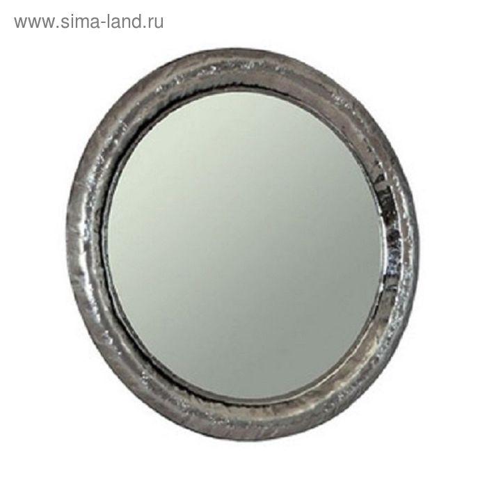 """Зеркало """"Андорра"""" круглое, серебристое, 90 см, Акватон"""
