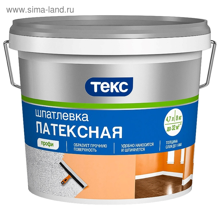 "Шпатлевка ТЕКС латексная ""Профи"" 8 кг"