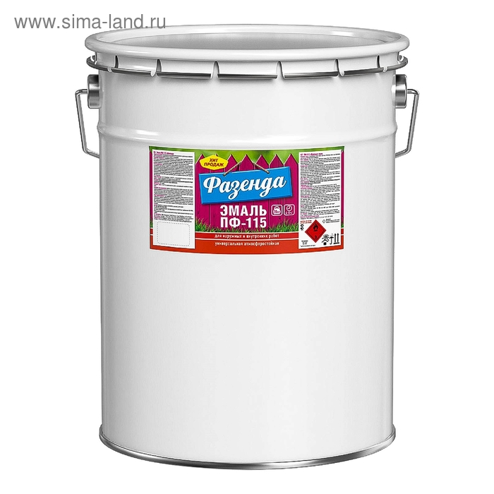 "Эмаль ТЕКС ПФ-115 ""Фазенда"" белая, 20 кг"