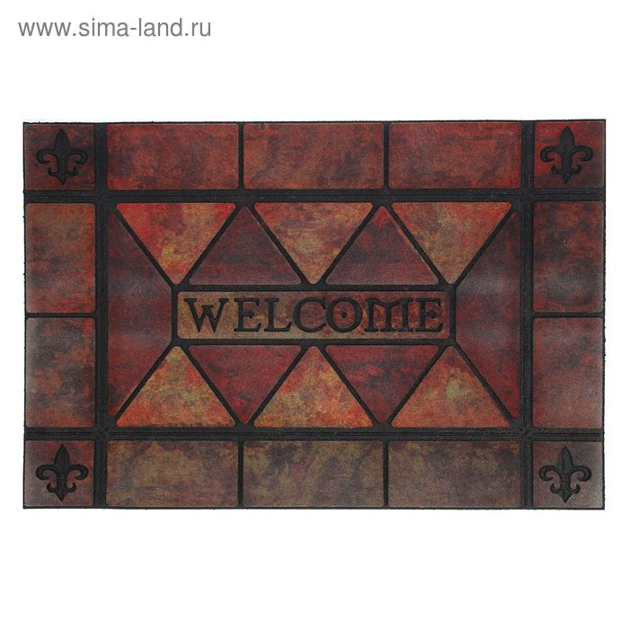 "Коврик придверный 59х88 см ""Welcome. Плитка"""