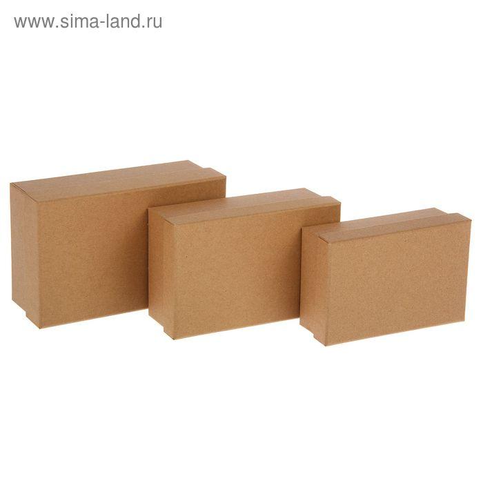 Набор коробок 3в1 прямоуг крафт (19*12*7,5/17*11*6/15*10*5 см)