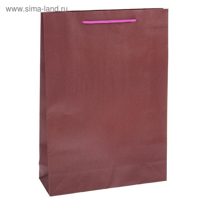 Пакет крафт сиреневый, 31,5 х 41,5 х 9,5 см