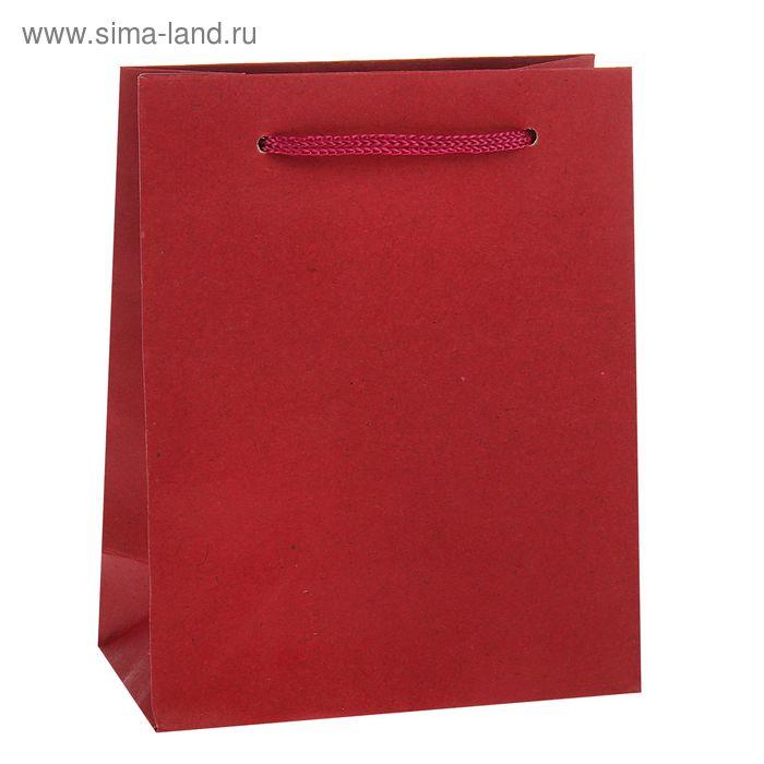 Пакет крафт красный, 12 х 15,5 х 5,5 см