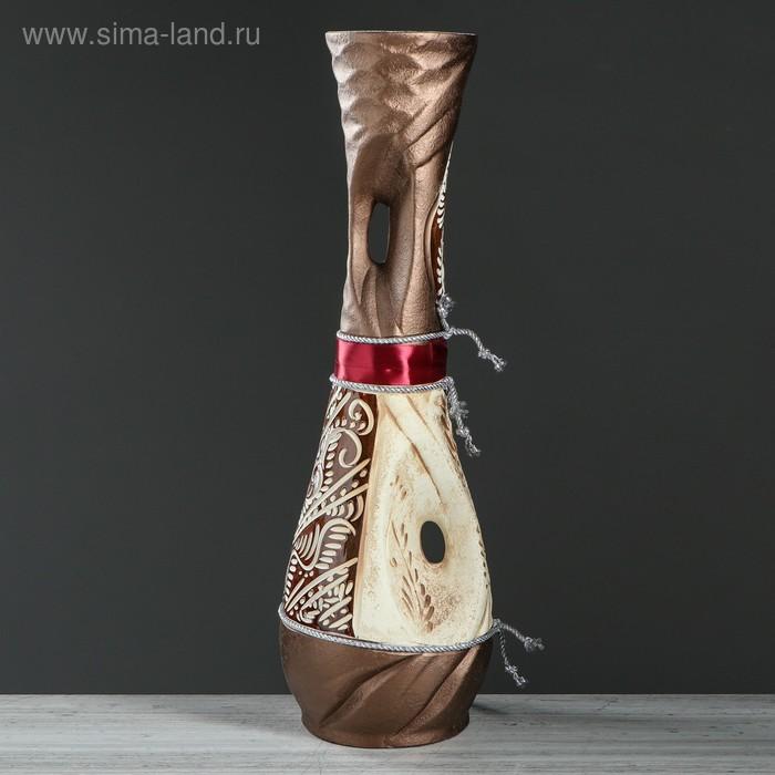 """Ваза напольная """"Нимфа"""" ангоб, верёвки, микс"""