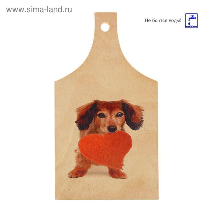 Доска сувенирная фанера 165*300 собаки