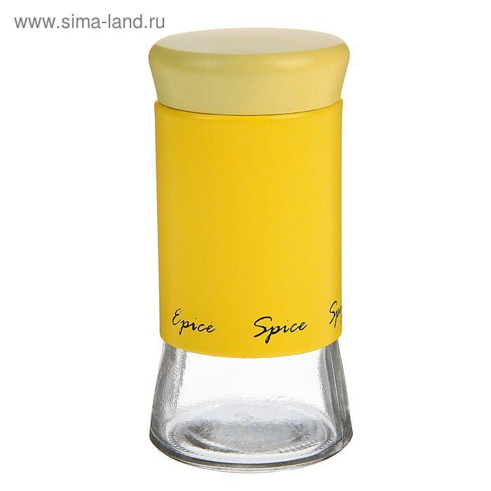 """Емкость для специй 200 мл """"Пастель"""", 5,5х11 см, цвет желтый"""