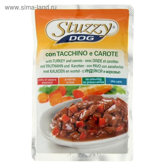 Влажный корм для собак STUZZY DOG с индейкой и морковью в соусе, пауч, 100 г