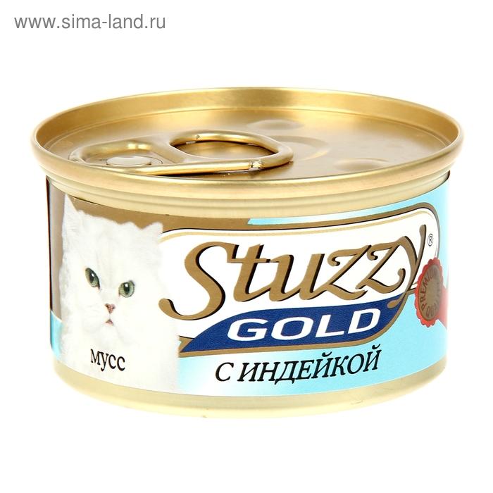 Влажный корм STUZZY GOLD для кошек, мусс, индейка, 85 г