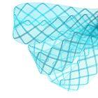 Регилин плоский клетка, 45мм, 22±1м, цвет голубой