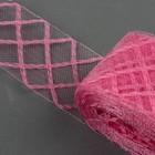 Регилин плоский клетка, 45мм, 22±1м, цвет розовый