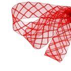 Регилин плоский клетка, 45мм, 22±1м, цвет красный