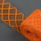 Регилин плоский клетка, 45мм, 22±1м, цвет оранжевый