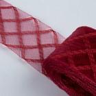 Регилин плоский клетка, 45мм, 22±1м, цвет бордовый