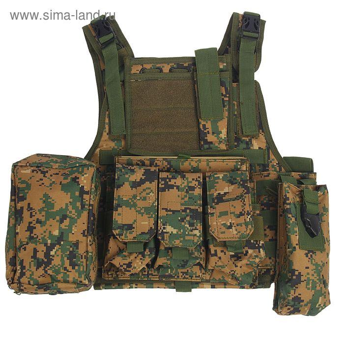 Жилет разгрузочный KINGRIN M4 vest (D-woodland) VE-07-DW