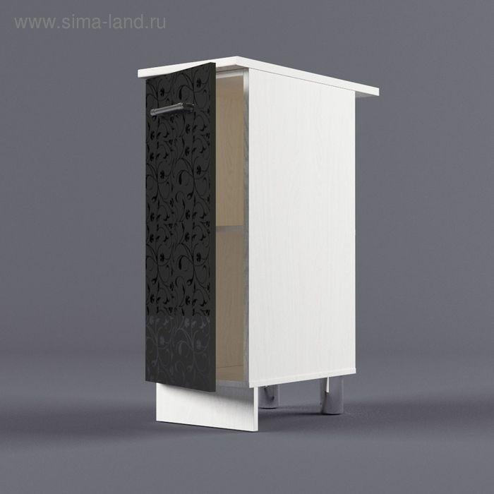 Шкаф напольный 850*300*600 Черные цветы