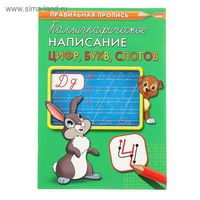 Прописи А4 Каллиграфическое написание цифр, букв, слогов