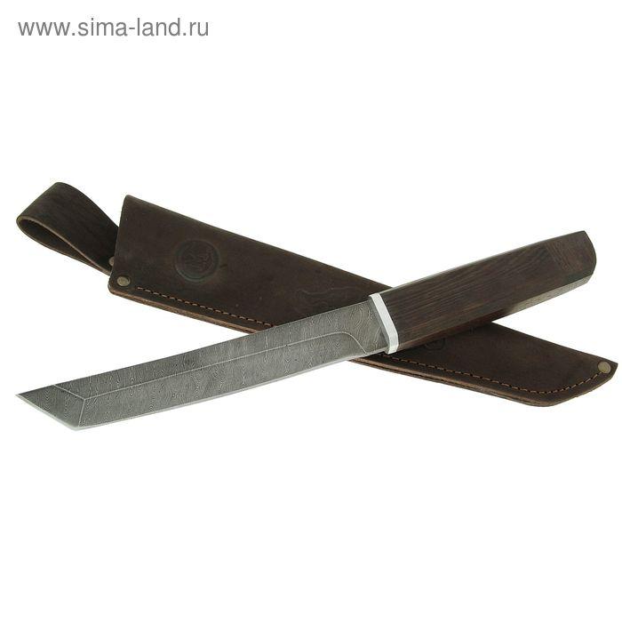 """Нож нескладной """"Танто"""", дамасская сталь,рукоять-венге, дюраль"""