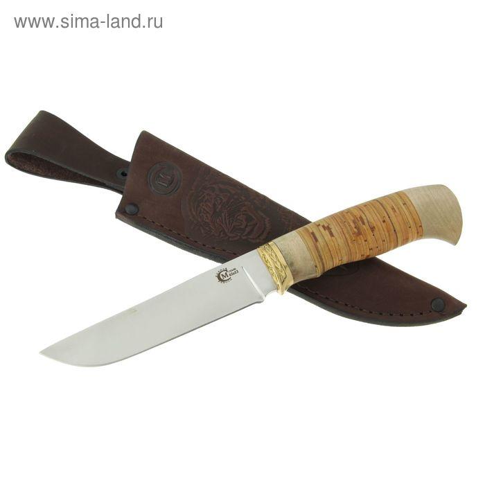 """Нож нескладной """"Куница"""" , сталь 65х13, рукоять-береста, литье"""