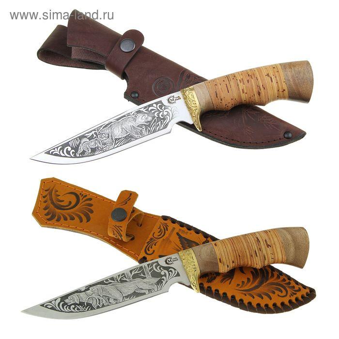"""Нож нескладной """"Легионер"""", сталь 65х13, рукоять-береста, литье, гравировка"""
