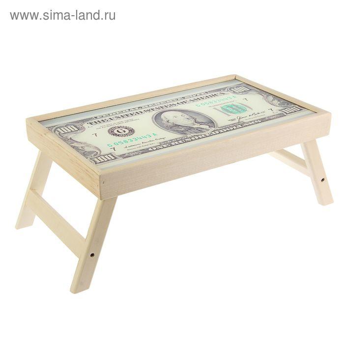 """Столик для завтрака """"Доллар"""" стеклянная поверхность"""