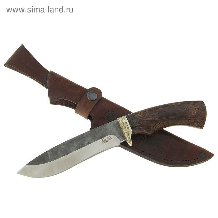 """Нож нескладной """"Скиф"""", кованная сталь 95х18 со следами ковки, рукоять-венге, литье"""
