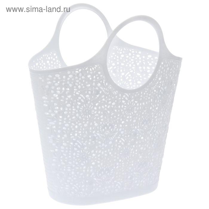 Сумка-корзинка кружевная, цвет белый