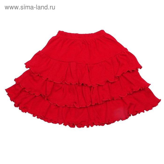 Юбка для девочки, рост 110 см, цвет красный (арт. Ю-610-04)