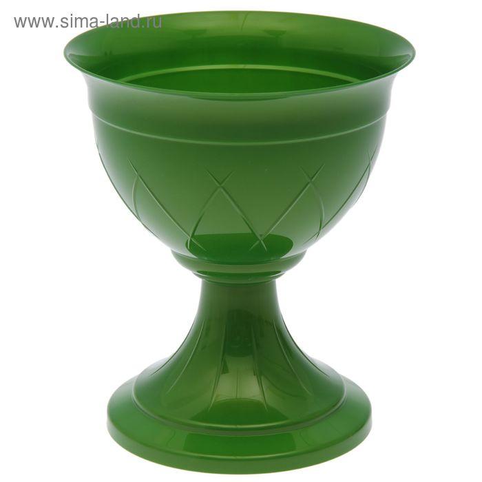 "Горшок 3,5 л ""Лилия на ножке"", цвет зеленое золото"