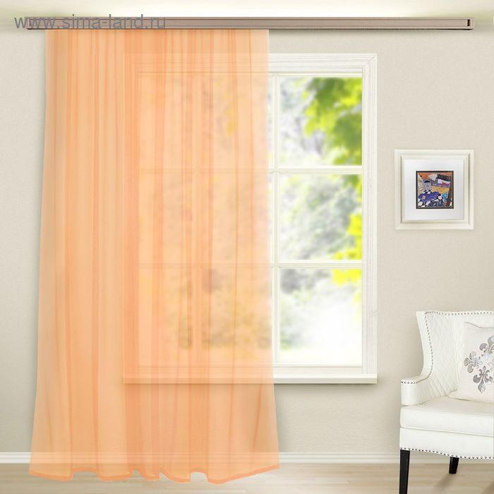 Штора вуаль, ширина 300 см, высота 260 см, цвет персиковый