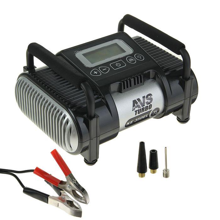 Компрессор AVS KE350EL, 35 л/мин, 12 В, фонарь, электронный дисплей, ограничитель давления