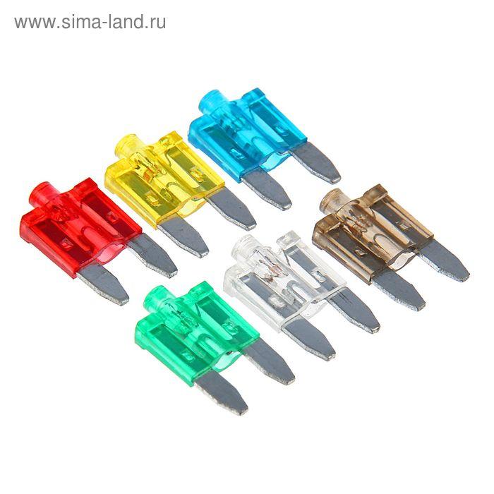 """Предохранители AVS FC-271L, """"мини"""", 5-30 А, со светодиодом, набор 120 шт."""