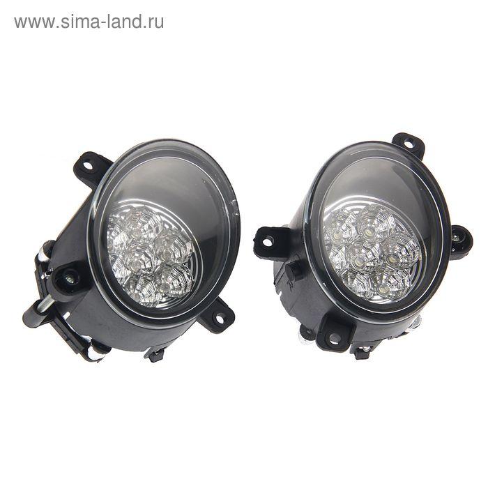Противотуманные фары AVS PF-314L, светодиодные, 7 LED, LADA Granta/Kalina, набор 2 шт.