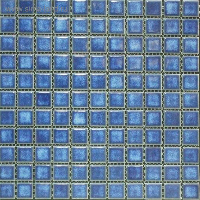 Мозаика керамическая Elada Mosaic SР2321, голубая, 300х300х6 мм