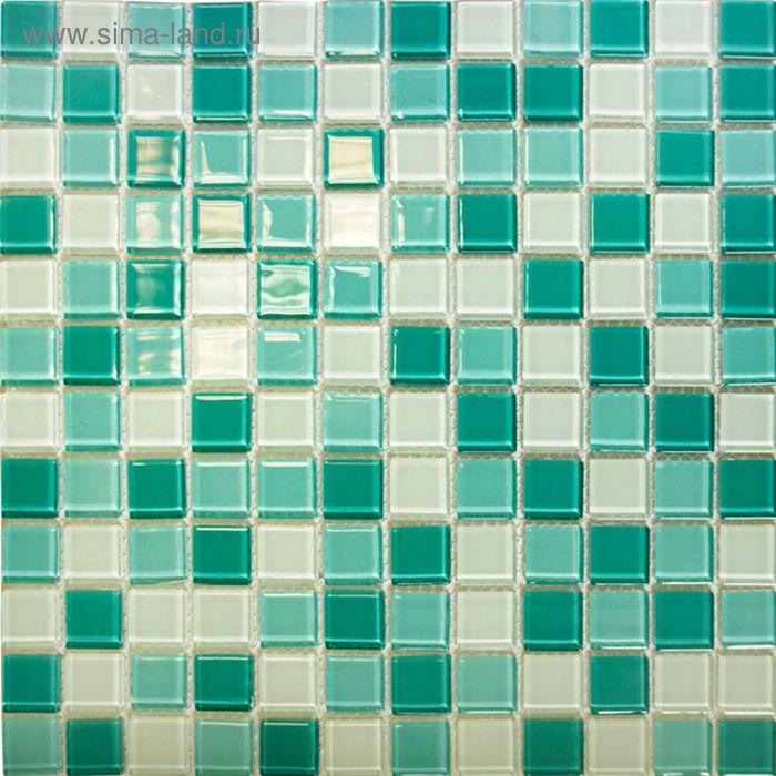 Mозаика стеклянная Elada Mosaic CB401, бирюзовая, 327х327х4 мм