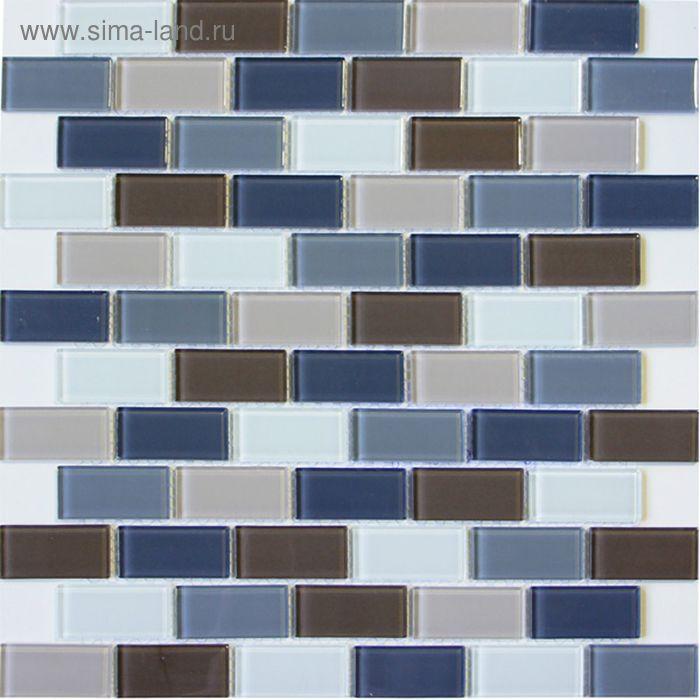 Mозаика стеклянная Elada Mosaic DM 103, серо-бежевая, 327х327х4 мм