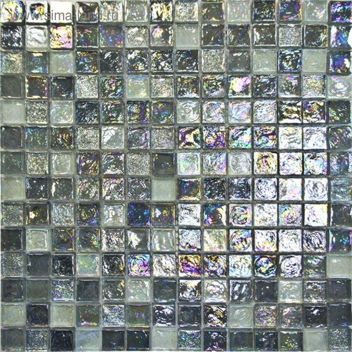 Mозаика стеклянная Elada Mosaic JSM-LL055, серебристая, 305х305х8мм
