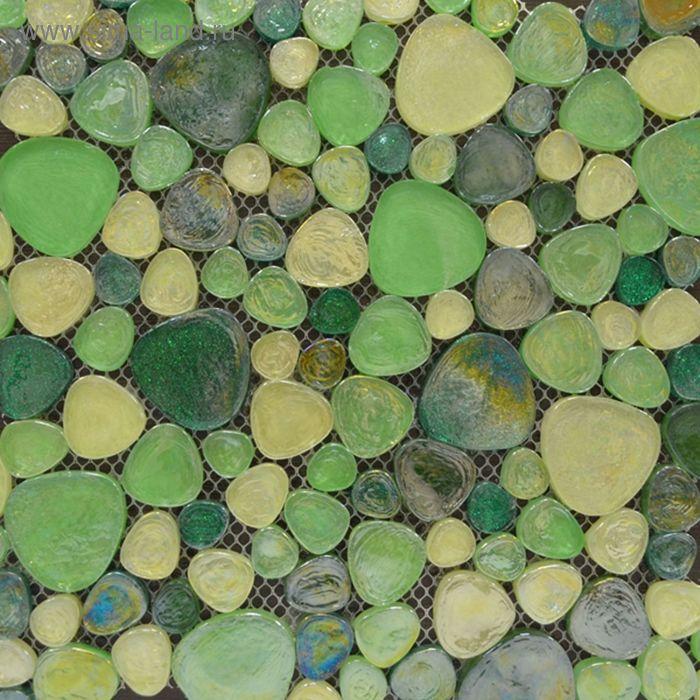 Mозаика стеклянная Elada Mosaic M8L3455, зелёная, 300х300х8 мм