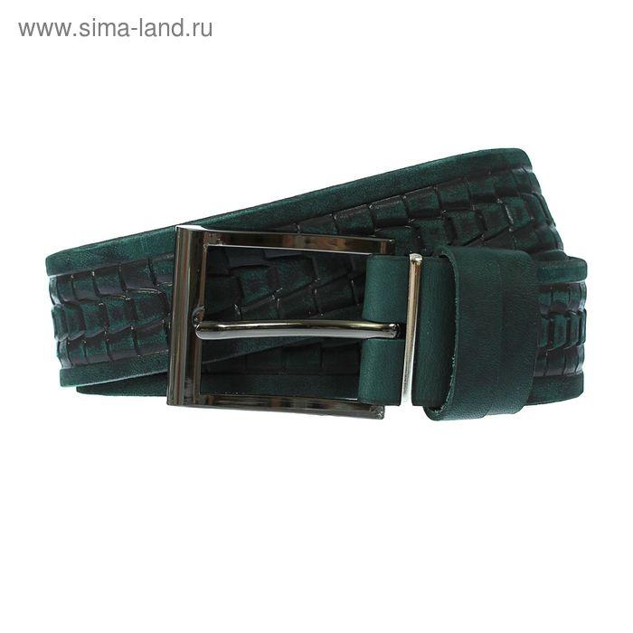 Ремень мужской, винт, пряжка под металл, ширина - 3,5см, зелёный