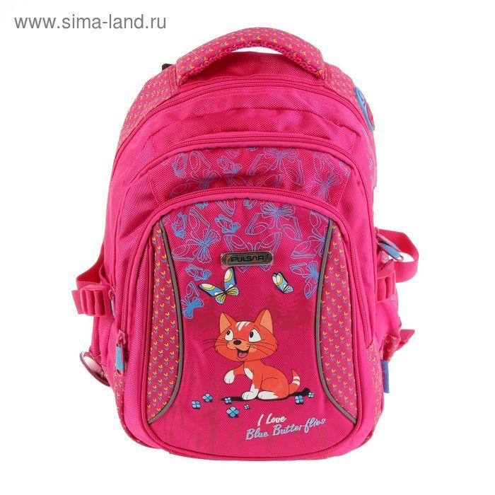 Рюкзак школьный эргономичная спинка для девочки Pulsar 2-Р3, 38*25*20 «Кошечка» 2-Р3