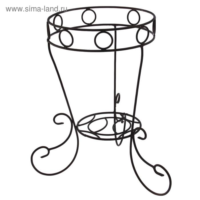"""Подставка для цветов напольная """"Вазон"""" на 1 цветок, диаметр дна 25 см, верхнего кольца 34 см"""