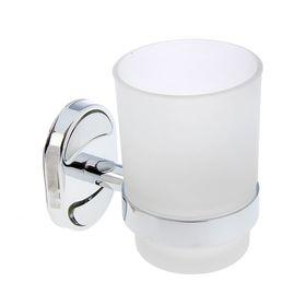 Держатель для зубных щеток Accoona 11203, настенный, 1 стакан, стекло, хром