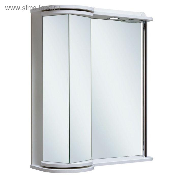 Шкаф зеркальный навесной Секрет 65, белый, Руно 449559